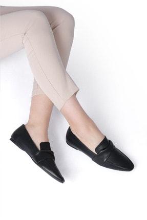 Marjin Dolinva Kadın Loafer Ayakkabısiyah 1
