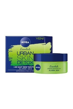 Nivea Essentials Urban Skin Detox Jel Gece Kremi 0