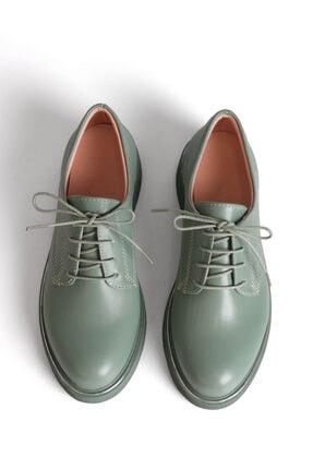 Marjin Kadın Yeşil Oxford Ayakkabı Terva 0