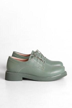 Marjin Kadın Yeşil Oxford Ayakkabı Terva 4