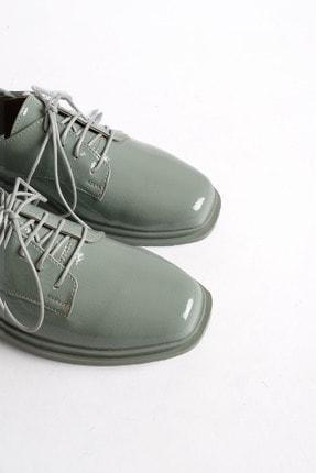 Marjin Kadın Yeşil Rugan Oxford Ayakkabı Rilen 0