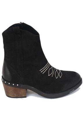 Ustalar Ayakkabı Çanta Siyah Kadın Western Hakiki Deri Bot 401.53-08 1