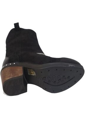 Ustalar Ayakkabı Çanta Siyah Kadın Western Hakiki Deri Bot 401.53-08 3