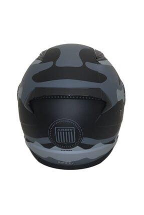 LS2 Unisex Mat Siyah Rapıd Army  Kask 2
