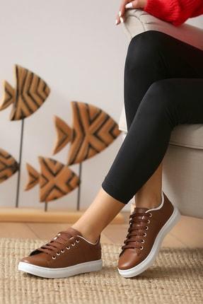 Pembe Potin Kadın Taba Casual Ayakkabı 1