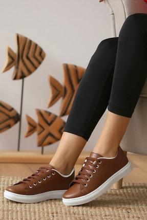 Pembe Potin Kadın Taba Casual Ayakkabı 2