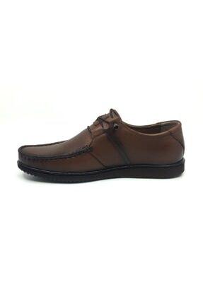 Taşpınar Erkek Kahverengi Deri Yazlık Rahat Tam Ortopedik Ayakkabı 39-45 2