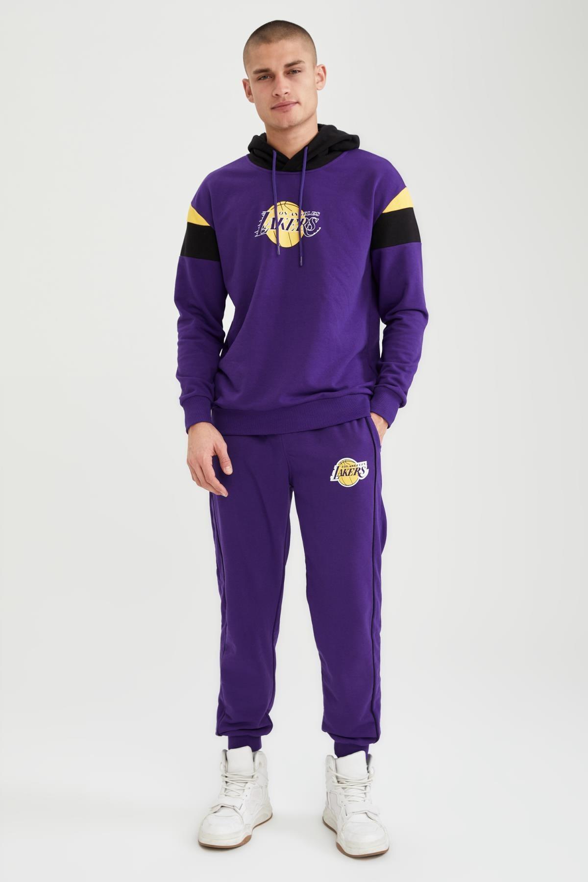 Defacto Erkek NBA Lisanslı Oversize Unisex Kapüşonlu Sweatshirt T7557AZ21SP 1