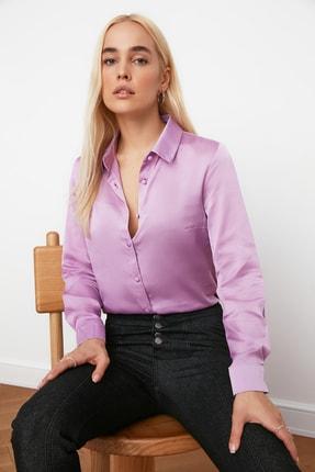 TRENDYOLMİLLA Lila Basic Gömlek TWOAW20GO0465 2