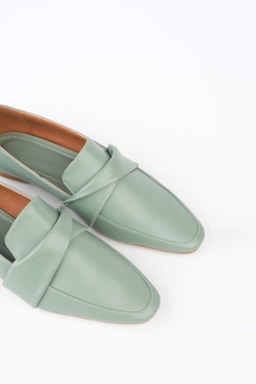 Marjin Kadın Yeşil Loafer Ayakkabı Dolinva 3