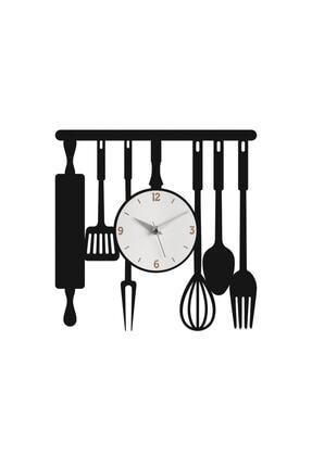 Morvizyon Mutfak Temalı Ahşap Duvar Saati 0