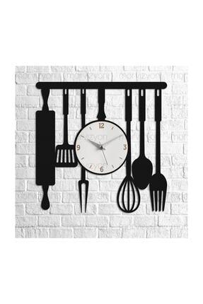 Morvizyon Mutfak Temalı Ahşap Duvar Saati 1