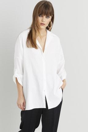 Cool & Sexy Kadın Beyaz Salaş Tunik Gömlek Q910 1
