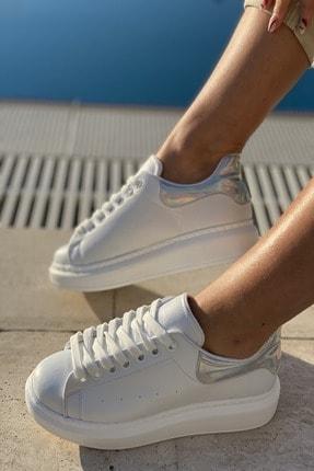 İnan Ayakkabı Unisex Delik Detaylı Parçalı Sneaker 2