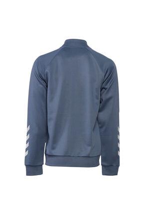 HUMMEL Erkek Lacivert Fermuarlı Sweatshirt 4