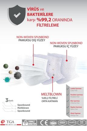 TGA MEDİCAL Meltblown Filtreli 3 Katlı Maske Sevgililer Günü Konsepti 50 Adet 2