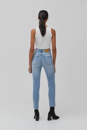Pull & Bear Kadın Süper Yüksek Bel Slim Fit Mom Jean 3