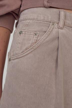 Pull & Bear Kadın Pudra Slim Fit Slouchy Pantolon 2