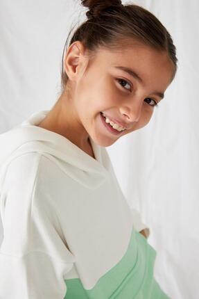 Defacto Kız Çocuk Kanguru Cepli Sweatshirt 2