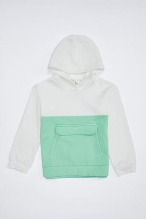 Defacto Kız Çocuk Kanguru Cepli Sweatshirt 4