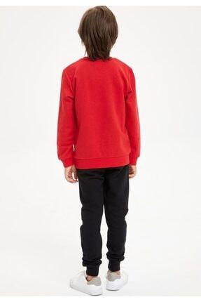 Defacto Erkek Çocuk Kaplan Baskılı Sweatshirt Ve Eşofman Altı Takım 2