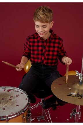 Defacto Erkek Çocuk Kare Desen Gömlek 0