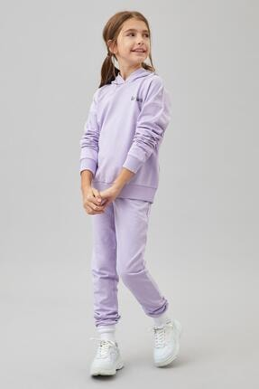 Defacto Kız Çocuk Organik Pamuk Alt Üst Eşofman Takım 1
