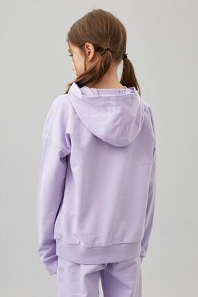Defacto Kız Çocuk Organik Pamuk Alt Üst Eşofman Takım 3