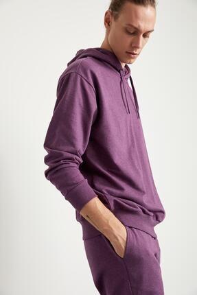 Defacto Oversize Fit Kapüşonlu Basic Sweatshirt 4