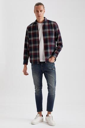 Defacto Ekose Uzun Kollu Regular Fit Gömlek Ceket 1