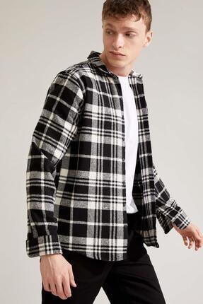 Defacto Regular Fit Uzun Kollu Gömlek Ceket 4