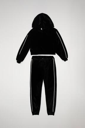 Defacto Kız Çocuk Kadife Kumaş Sweatshirt Ve Jogger Eşofman Takım 4