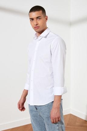 TRENDYOL MAN Beyaz Erkek Slim Fit Basic Gömlek Yaka Gömlek TMNSS21GO0476 4