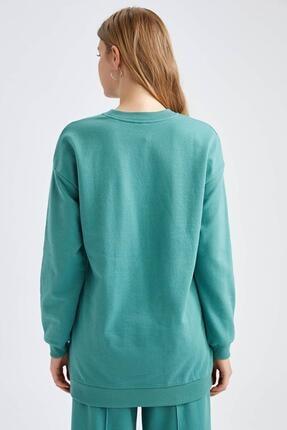 Defacto Modest Yazı Baskılı Relax Fit Sweatshirt 3