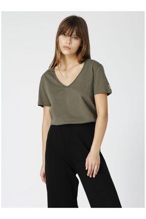 Fabrika Kadın Haki Tişört 0