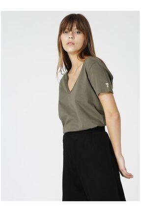 Fabrika Kadın Haki Tişört 2