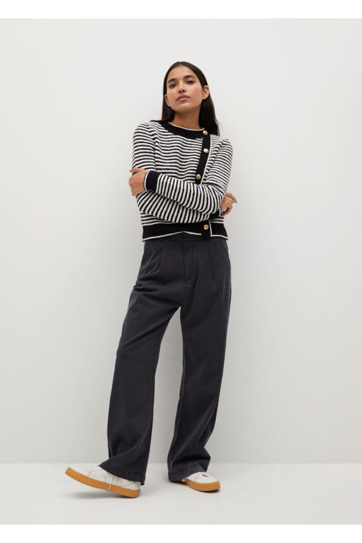 Mango Pili Detaylı Pamuklu Pantolon