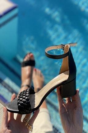 İnan Ayakkabı Tek Bant Ince Örgü Bilekli Topuklu Ayakkabı 2