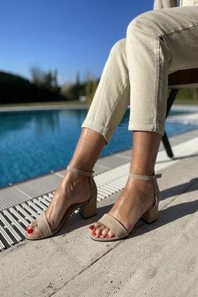 İnan Ayakkabı Kadın Tek Bant Bilekli Topuklu Ayakkabı 0