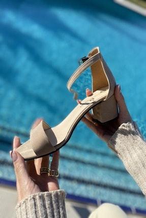 İnan Ayakkabı Kadın Tek Bant Bilekli Topuklu Ayakkabı 1