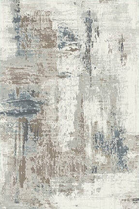 KuleliStore Beyaz Mavi Kaymaz Taban Dekoratif Baskılı Halı Kilim Deri Taban Modern Vintage Kaydırmaz Halı 3