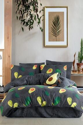 Fushia Avocado Dark %100 Pamuk Tek Kişilik Avakado Nevresim Takımı 1
