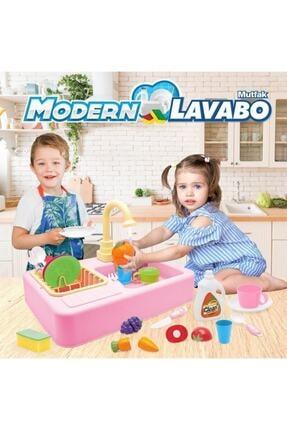 Kayyum Oyuncak Modern Mutfak Lavabo Oyuncağı Pembe Rengi 3