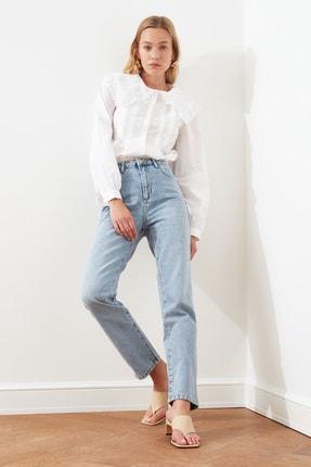 TRENDYOLMİLLA Açık Mavi Yüksek Bel Bootcut Jeans TWOSS21JE0035 2