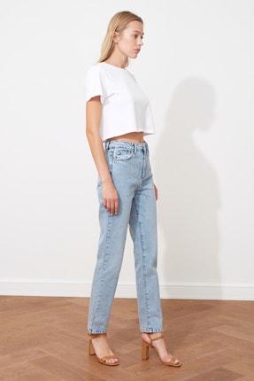 TRENDYOLMİLLA Açık Mavi Yüksek Bel Bootcut Jeans TWOSS21JE0035 3