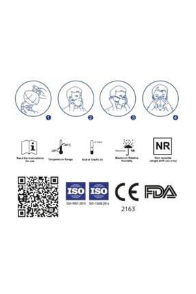 A&Z Med N95 Maske Telli Ve Tek Tek Paketli 10 Adetlik 1 Kutu - Toplam 10 Adet Maske 2