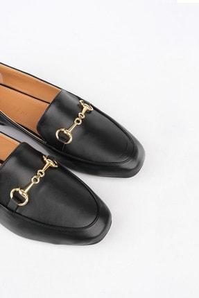 Marjin Kadın Siyah Loafer Ayakkabı Bekla 0
