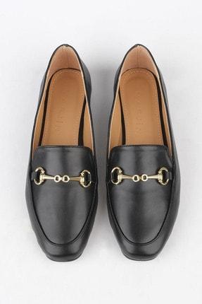Marjin Kadın Siyah Loafer Ayakkabı Bekla 2