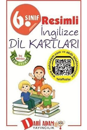Dahi Adam Yayınları Dahi Adam 6. Sınıf Resimli Ingilizce Dil Kartları 0