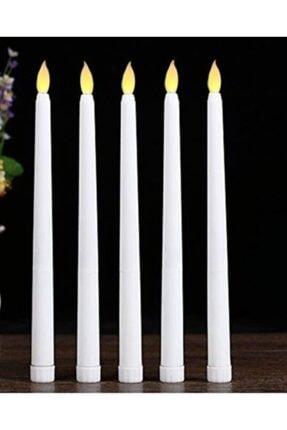 Happyland Sevgililer Günü Beyaz Şamdan Mum 3 Adet  27 cm 2